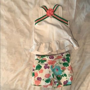 Janie and Jack floral shirts and tank size 2T